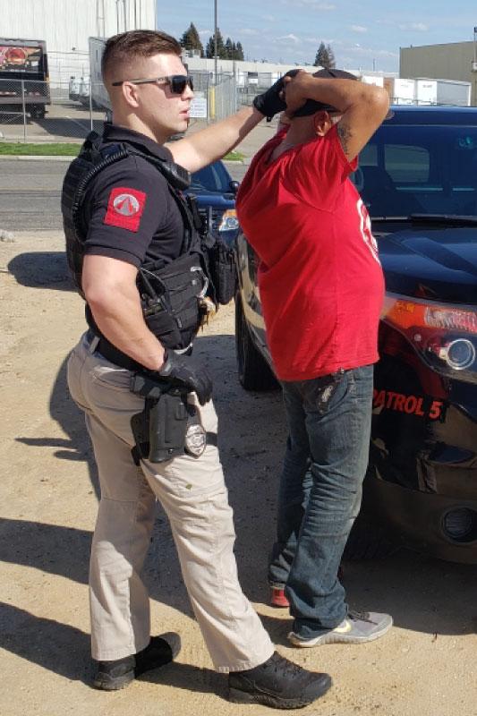 Alpine Protective Solutions Uniformed Security Makes Arrest